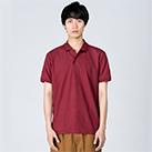 5.8オンス T/Cポロシャツ(ポケット無し)(00141-NVP)着用イメージ(バーガンディ/Lサイズ)
