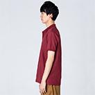 5.8オンス T/Cポロシャツ(ポケット無し)(00141-NVP)着用イメージ(バーガンディ/Lサイズ)・側面
