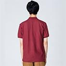 5.8オンス T/Cポロシャツ(ポケット無し)(00141-NVP)着用イメージ(バーガンディ/Lサイズ)・背面
