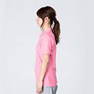 5.8オンス T/Cポロシャツ(ポケット無し)(00141-NVP)着用イメージ(コーラルピンク/SSサイズ)・側面