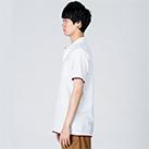 5.8オンス ベーシックレイヤードポロシャツ(00195-BYP)着用イメージ(ホワイト×バーガンディ/Lサイズ)・側面