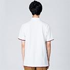 5.8オンス ベーシックレイヤードポロシャツ(00195-BYP)着用イメージ(ホワイト×バーガンディ/Lサイズ)・背面