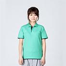 5.8オンス ベーシックレイヤードポロシャツ(00195-BYP)着用イメージ(ミントグリーン×ネイビー/SSサイズ)