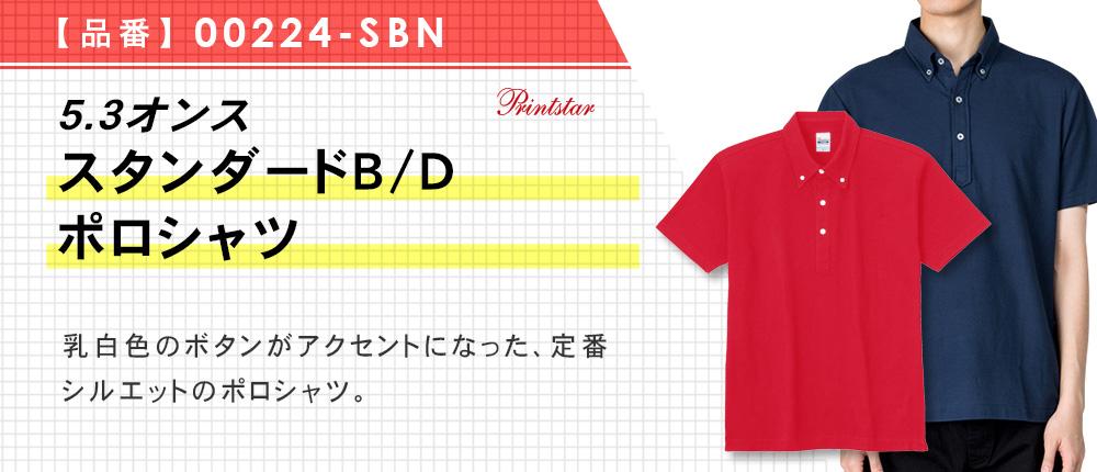 5.3オンス スタンダードB/Dポロシャツ(00224-SBN)12カラー・8サイズ