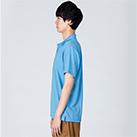 4.4オンス ドライポロシャツ(00302-ADP)着用イメージ(サックス/Lサイズ)・側面