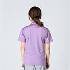 4.4オンス ドライポロシャツ(00302-ADP)着用イメージ(ライトパープル/SSサイズ)・背面