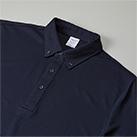 4.7オンス スペシャルドライカノコポロシャツ(ボタンダウン)(ローブリード)(2022-01)共生地仕様の襟
