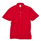 4.7オンス スペシャルドライカノコ ポロシャツ(ボタンダウン)(ポケット付)(ローブリード)(2023-01)正面