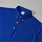 4.7オンス スペシャルドライカノコ ポロシャツ(ボタンダウン)(ポケット付)(ローブリード)(2023-01)襟元