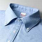 5.3オンス ドライカノコユーティリティーポロシャツ(ボタンダウン)(5052-01)襟