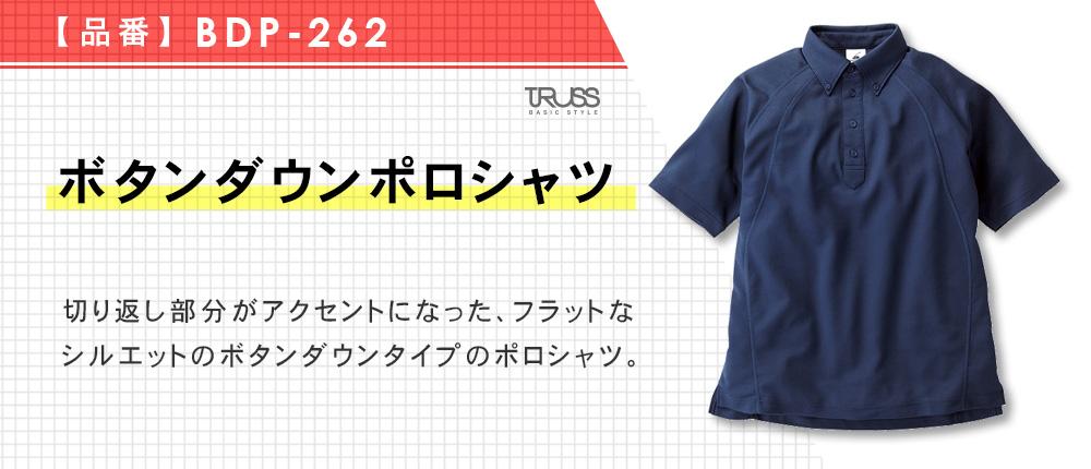 ボタンダウンポロシャツ(BDP-262)6カラー・6サイズ
