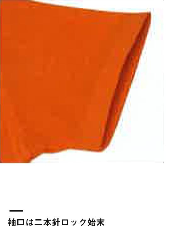 イベントポロシャツ(CR2102)袖口は二本針ロック始末