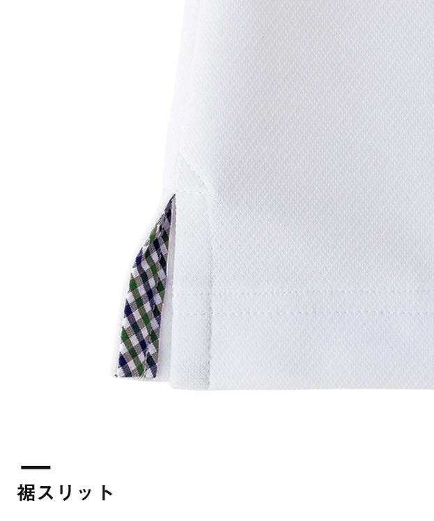 レディス吸水速乾ポロシャツ(チェック)(FB4017L)裾スリット