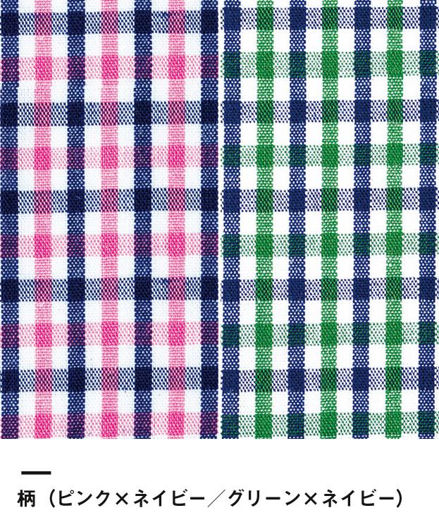 レディス吸水速乾ポロシャツ(チェック)(FB4017L)柄(ピンク×ネイビー・グリーン×ネイビー)