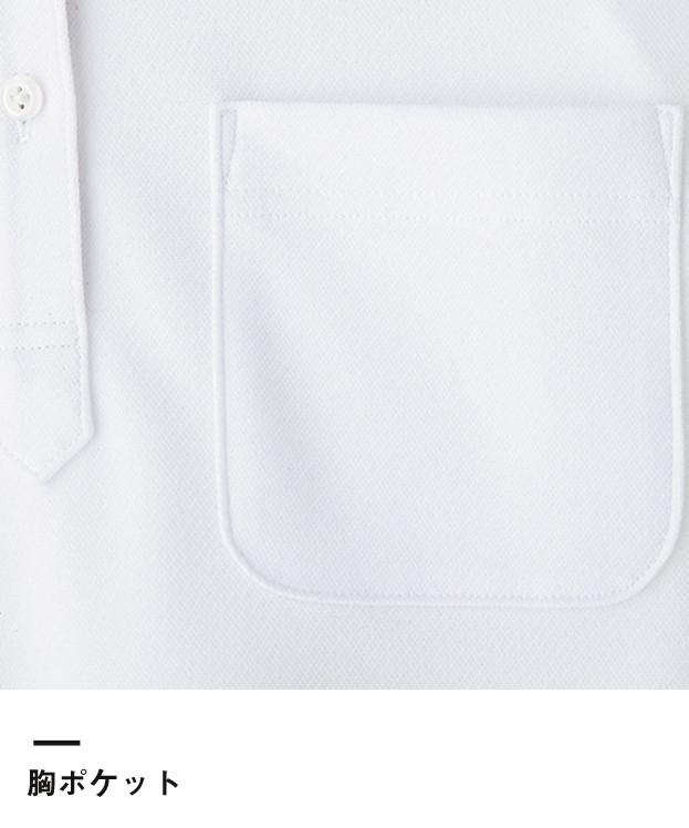レディス吸水速乾ポロシャツ(花柄A)(FB4018L)胸ポケット
