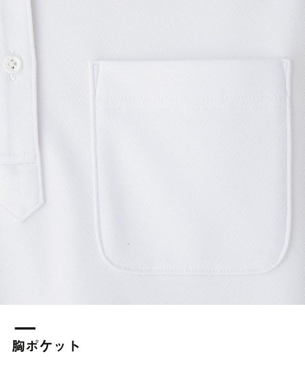 吸水速乾メンズポロシャツ(チェック)(FB5023M)胸ポケット