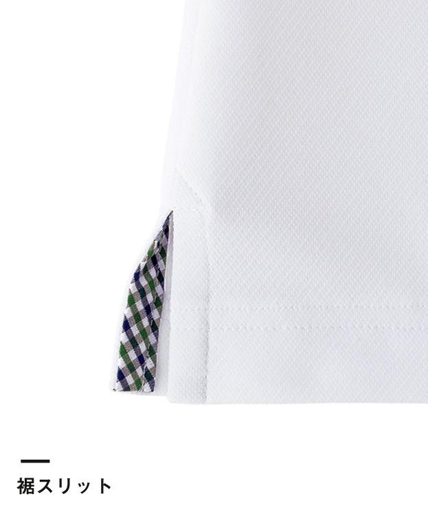 吸水速乾メンズポロシャツ(チェック)(FB5023M)裾スリット