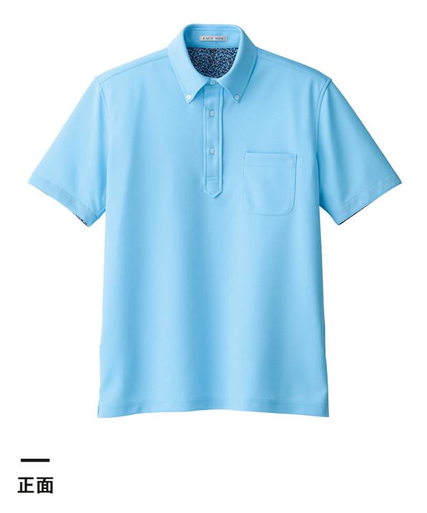 吸水速乾メンズポロシャツ(花柄A)(FB5024M)正面