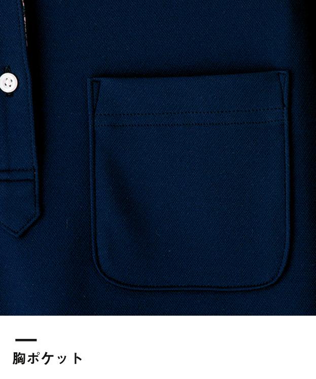 吸水速乾メンズポロシャツ(花柄B)(FB5025M)胸ポケット