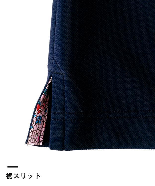 吸水速乾メンズポロシャツ(花柄B)(FB5025M)裾スリット