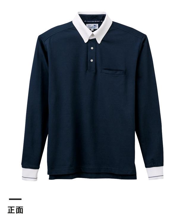 クレリック長袖ポロシャツ(KU1403)正面