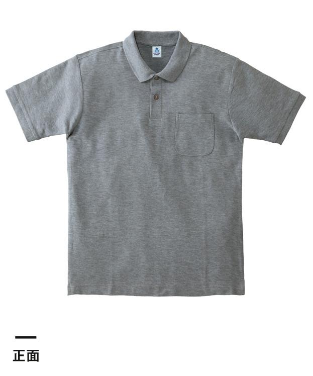 ポケット付CVC鹿の子ドライポロシャツ(MS3114)正面