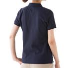 ポケット付CVC鹿の子ドライポロシャツ(MS3114)背面(着用/レディース)