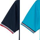 裾ラインリブポロシャツ(MS3117)袖(赤リブ・カラーリブ)