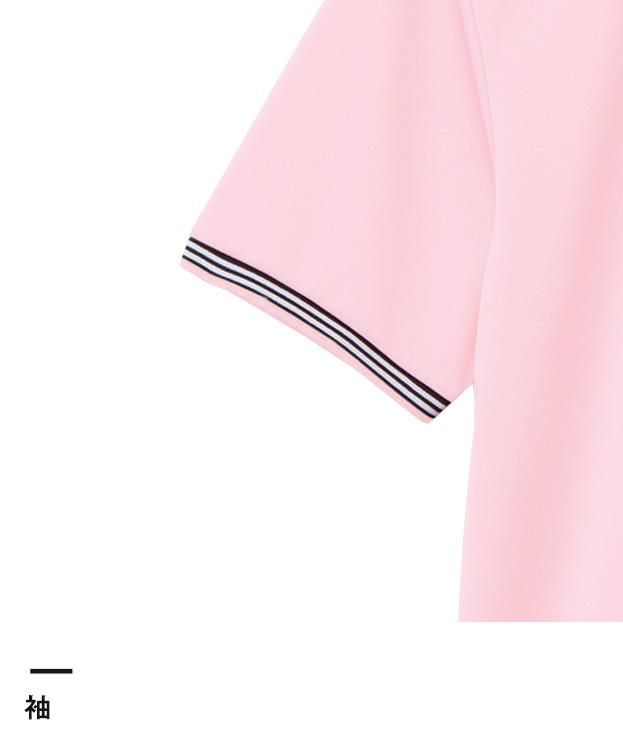 裾ラインリブドライポロシャツ(ポリジン加工)(MS3122)袖