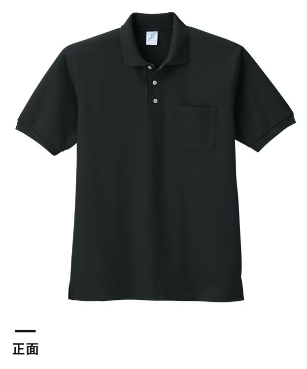 清涼感ポロシャツ(ポケ付)(T17PS)正面