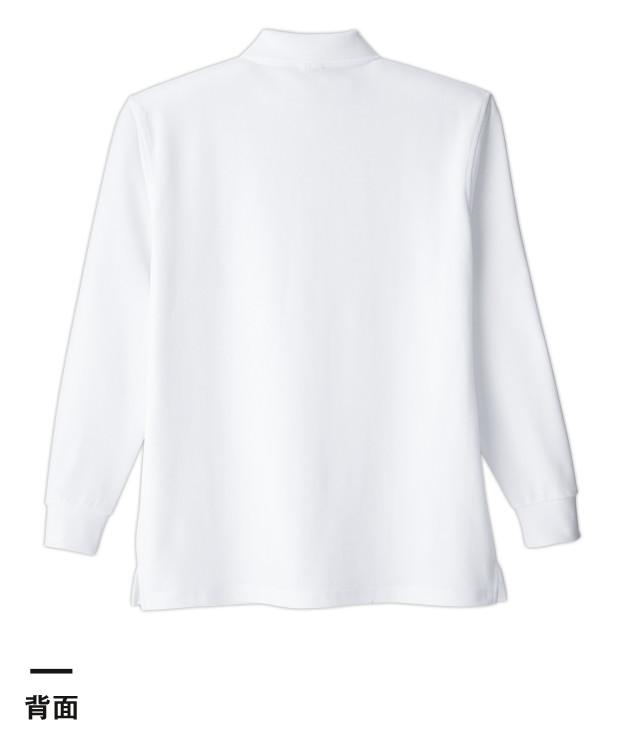 清涼感長袖ポロシャツ(ポケ付)(T19SN)背面