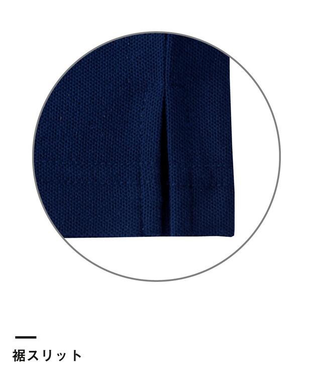 綿混ラインポロ(VP-330)裾スリット