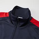 7.0オンス スタンドカラージャージートラックジャケット(1997-01)首元(ジッパーを閉めた場合)
