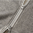 8.4オンス ファインフレンチテリースウェットフルジップパーカ(5180-01)ファスナー