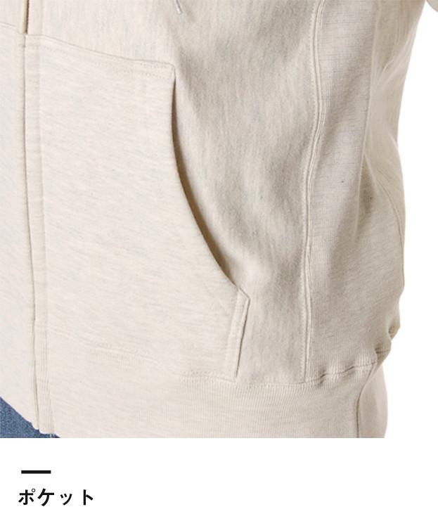 12.0オンス ヘヴィーウェイトスウェットフルジップパーカ(5511-01)ポケット
