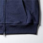 12.7オンス ヘヴィーウェイトスウェットフルジップパーカ(裏パイル)裾下の身頃とリブのシームラインは丈夫なダブルステッチ仕様