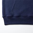 12.7オンス ヘヴィーウェイトスウェットプルオーバーパーカ(裏パイル)裾下の身頃とリブのシームラインは丈夫なダブルステッチ仕様