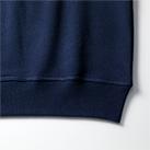 12.7オンス ヘヴィーウェイトクルーネックスウェット(裏パイル)袖下の身頃とリブのシームラインは丈夫なダブルステッチ仕上げ