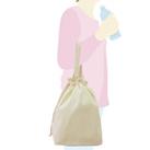 コットンエコ巾着(Lサイズ)(103-C)サイズイメージ