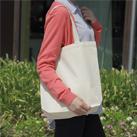 ライトキャンバスバッグ(生成)(111-7)底マチ付きの定番キャンバスバッグ