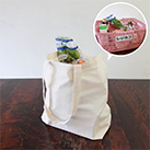 コットンレジ袋(Mサイズ)(117-C)レジカゴの中身がすっぽり入る便利なサイズ