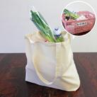 コットンレジ袋(Lサイズ)(118-C)レジカゴの中身がすっぽり入る便利なサイズ