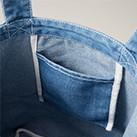 デニムトートバッグ(3970-01)内ポケット