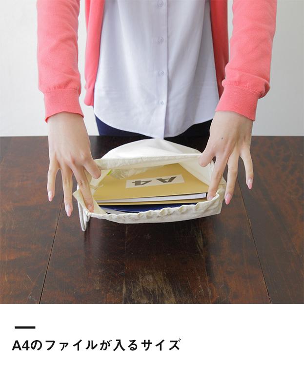 コットンショルダー巾着(83-C)A4のファイルが入るサイズ
