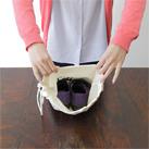 コットンショルダー巾着(83-C)用途が広がる使いやすいサイズ感