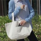 デイリーキャンバストート(Lサイズ)(88-C)ポケット付きの厚手キャンバストート
