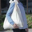 コットンマルシェバッグ(Lサイズ)(95-C)両サイドマチ付きの薄手シーチングバッグ