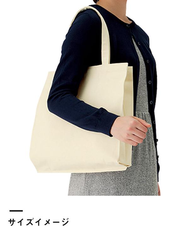 ライトキャンバスバッグ横マチ付(TR-0335)サイズイメージ