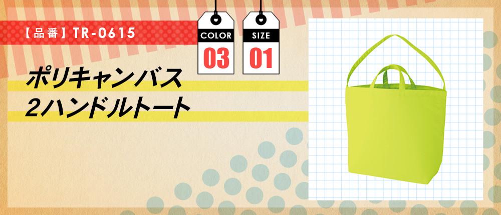ポリキャンバス2ハンドルトート(TR-0615)3カラー・1サイズ