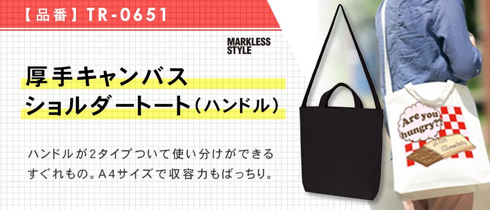 厚手キャンバスショルダートート(ハンドル)(TR-0651)2カラー・1サイズ